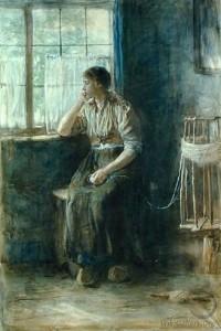 Mujer-en-la-ventana-Jozef-Israëls