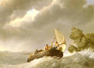 Johannes-Hermanus-Barend-Koekkoek-Sailing-The-Stormy-Seas-S
